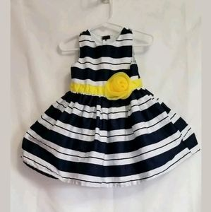 Girl Carter's Blue White Striped Dress 18 Month